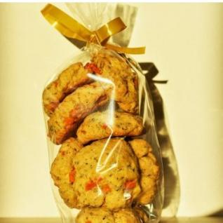 Loloco - Cookies Potimarron, Comté, Thym - 250 gr - Apéritif et biscuits salés - 250 gr