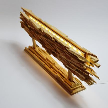 Lune et Animo - Lampes Design en bois recyclée et  des Tableaux  Lumineux