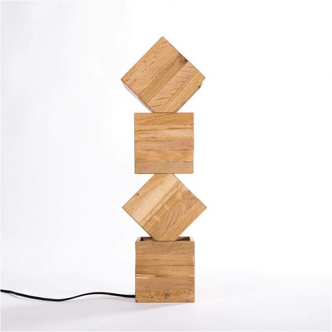 Lune et Animo - Danquen Handmade Wooden Design Lampadaire - Lampe de table - ampoule(s)