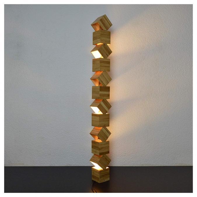 Lune et Animo - Danquen Xxl 155cm Handmade Wooden Design Lampadaire - Lampe d'ambiance