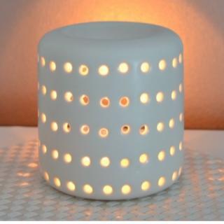 L'univers des bougies fondantes - Brûle parfum COLISEO blanc - Bougeoir - bougie(s)
