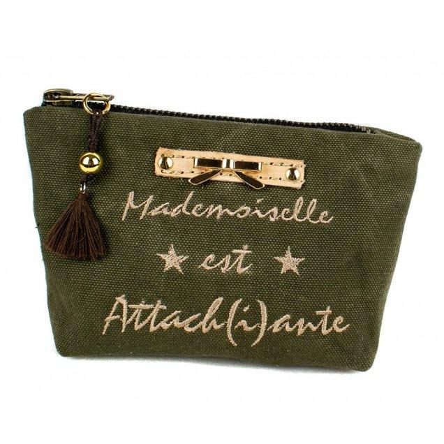 Lydie Secret de femme - Pochette porte monnaie Kaki - Pochette (maroquinerie) - Kaki