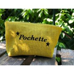 Lydie Secret de femme - Pochette toile de jute jaune - Pochette (maroquinerie) - Jaune