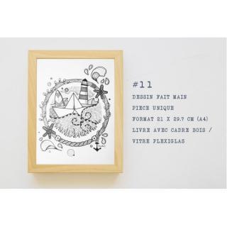MAD BZH - #11 Dessin Marin – MAD BZH – Pièce unique – Fait Main - Dessin, illustration - 21 x 29.7 cm