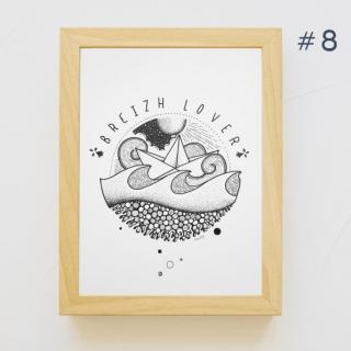 MAD BZH - #8 Dessin Marin – MAD BZH – Pièce unique – Fait Main - Dessin, illustration - 21 x 29.7 cm