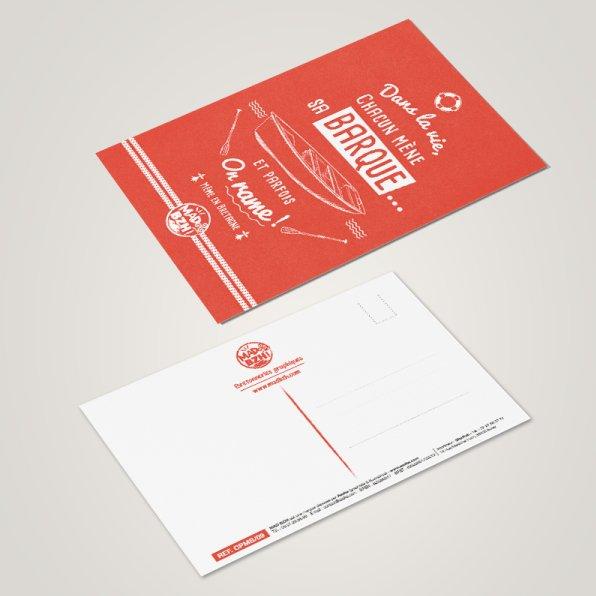 MAD BZH - Carte Postale Barque - carte postale