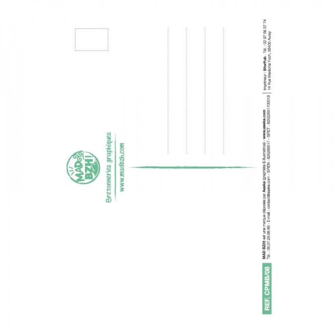 MAD BZH - Carte Postale Beurre - carte postale