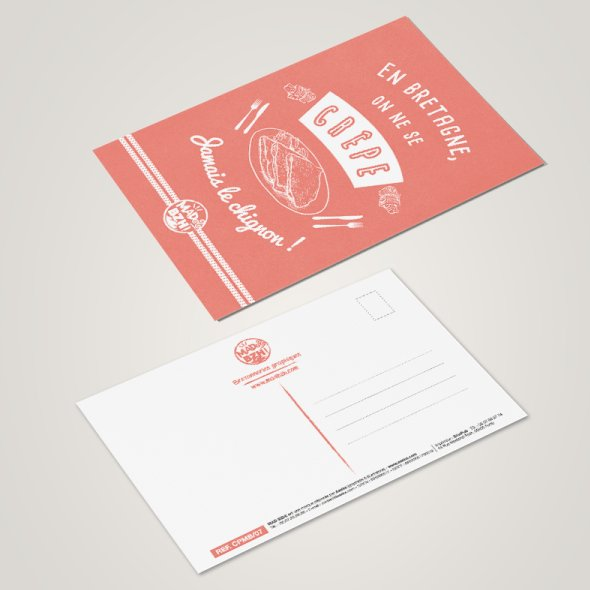 MAD BZH - Carte Postale Crêpe - carte postale