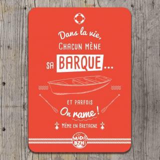 "MAD BZH - Carte Postale ""Dans la vie, chacun mène sa barque ! Même en Bretagne"". - carte postale"