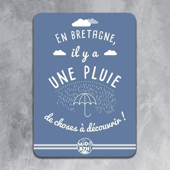 """MAD BZH - Carte Postale """"En Bretagne, il y a une pluie de choses à découvrir"""". - carte postale"""