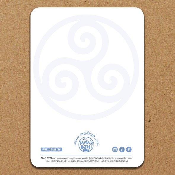 """MAD BZH - Carte Postale """"En Bretagne, on fait parfois des vagues, mais ce qu'on préfère, c'est quand on les surfe !"""" - carte postale"""