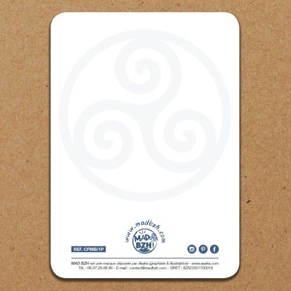 """MAD BZH - Carte Postale """"Je pique toujours un phare sur les côtes Bretonnes !"""" - carte postale"""