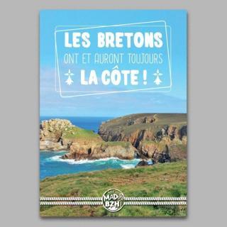 """MAD BZH - Carte Postale """"Les Bretons ont et auront toujours la côte!"""" - carte postale"""