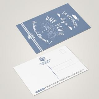 MAD BZH - Carte Postale Pluie - carte postale