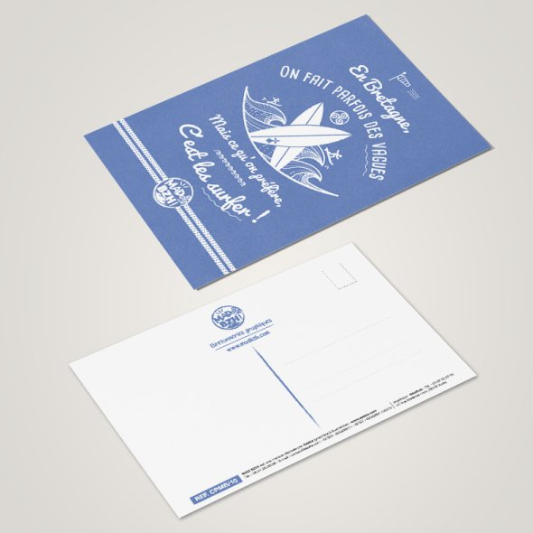 MAD BZH - Carte Postale Surf - carte postale