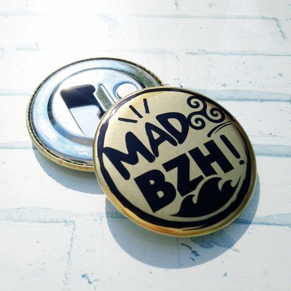 MAD BZH - Magnet décapsuleur doré - décapsuleur