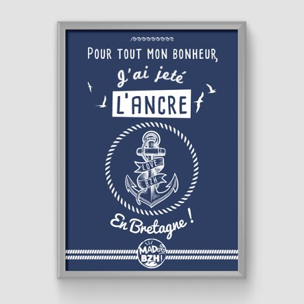 MAD BZH - Poster Ancre - Poster - 42 x 59.4 cm