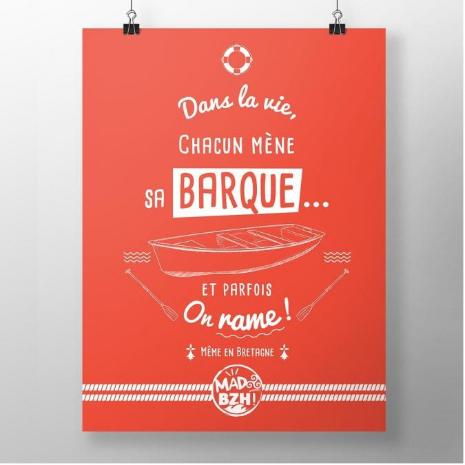 MAD BZH - Poster Barque - Poster - 40 x 50 cm