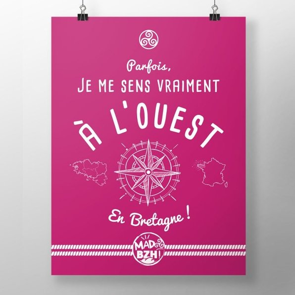 MAD BZH - Poster Ouest - Poster - 40 × 50 cm