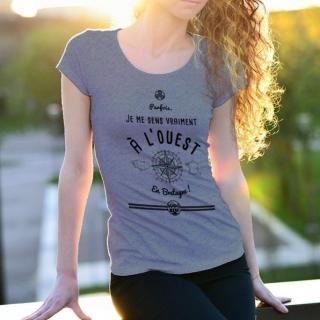 MAD BZH - T-shirt Ouest Femme - tee shirt femme