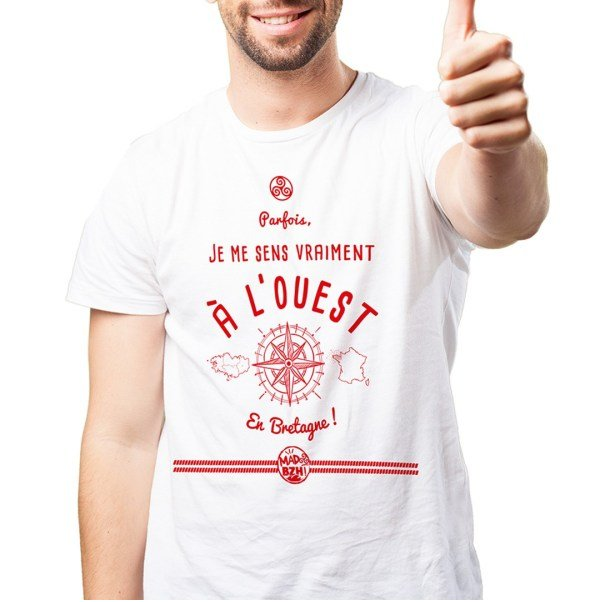MAD BZH - T-shirt Ouest Homme - tee shirt homme