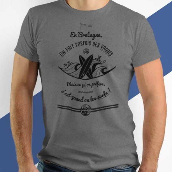 MAD BZH - T-shirt Surf Homme - tee shirt homme