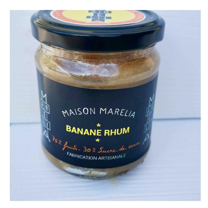 MAISON MARELIA - Banane rhum - Confiture - 0,250