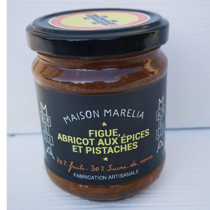 MAISON MARELIA - Figue Abricot pistaches & épices - Confiture - 0,250