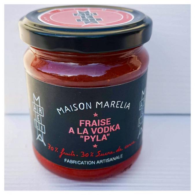 """MAISON MARELIA - Fraise à la vodka """"Pyla"""" - Confiture - 0.250"""