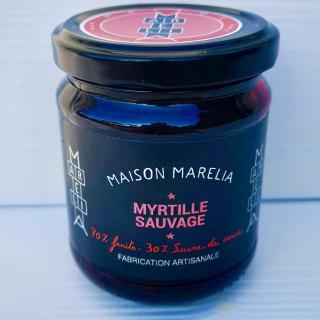MAISON MARELIA - Myrtille sauvage - Confiture - 0,250
