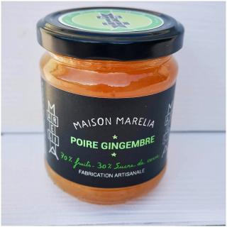 MAISON MARELIA - Poire gingembre - Confiture - 0.250