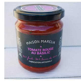 MAISON MARELIA - Tomate rouge au basilic - Confiture - 0,250