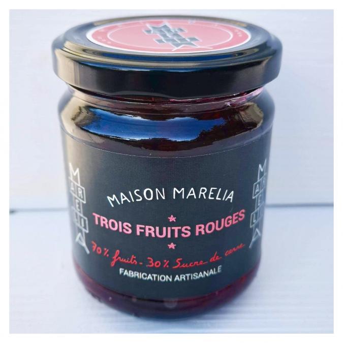 MAISON MARELIA - Trois fruits rouges - Confiture - 0,250