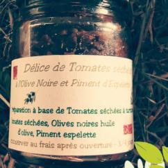 Ma Mosa - Délice de Tomates séchées à l Olive Noire & Piment d Espelette - 90 gr - Delice de legumes