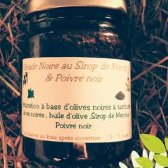 Ma Mosa - Olivade noire au Sirop de Menthe & Poivre noir - 90 gr - Olivades