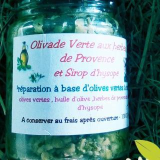 Ma Mosa - Olivade verte aux herbes de Provence et Sirop d hysope - 90 gr - Olivades