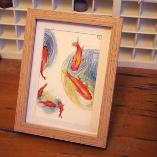 """Marion Freyre - """"Les petits pois..."""", reprographie encadrée de dessin original - Dessin, illustration -"""