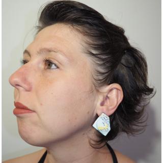 """Marion Freyre - """"Petit paysage"""" - Boucles d'oreilles en émail sur cuivre - Boucles d'oreille - Email"""