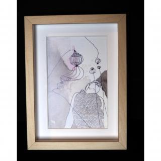 "Marion Freyre - ""Songe"", reprographie  encadrée de dessin original - Dessin, illustration -"