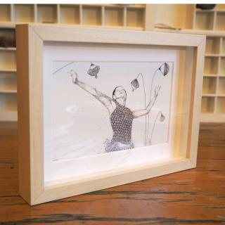 """Marion Freyre - """"Un vent de liberté"""", reprographie encadrée de dessin original - Dessin, illustration -"""