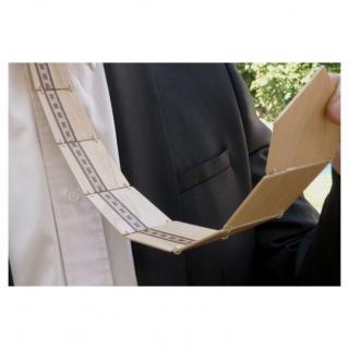 MARQUETERIE-49 - Cravate en bois et filet de marqueterie coloré - Cravate - Vert