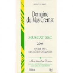 Mas Cremat - Muscat sec - blanc - 2010 - Bouteille - 0.75L