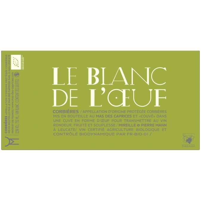 Mas des Caprices - Le Blanc de l'Oeuf - 2019 - Bouteille - 0.75L