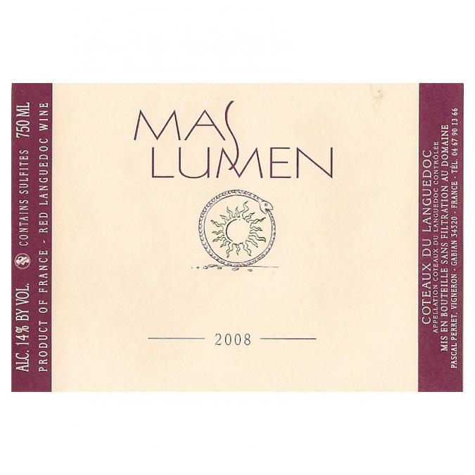 Mas Lumen - Mas Lumen 2008 - 2008 - Bouteille - 0.75L