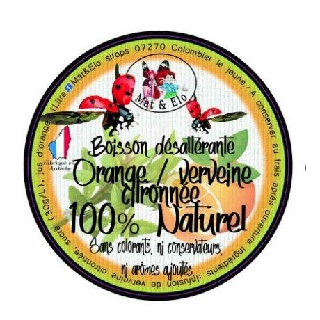 Mat & Elo - BOISSON DESALTERANTE ORANGE/VERVEINE CITRONNEE - Boissons sans alcool