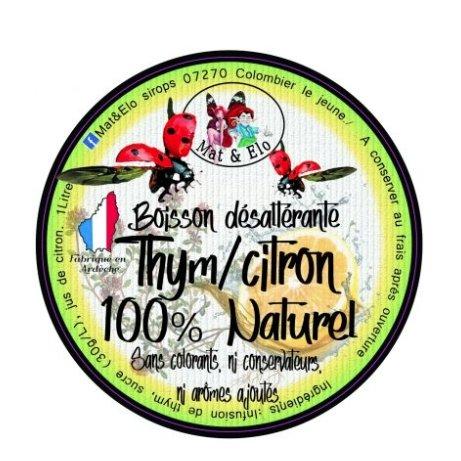 Mat & Elo - BOISSON DESALTERANTE THYM/CITRON 1 LITRE - Boissons sans alcool