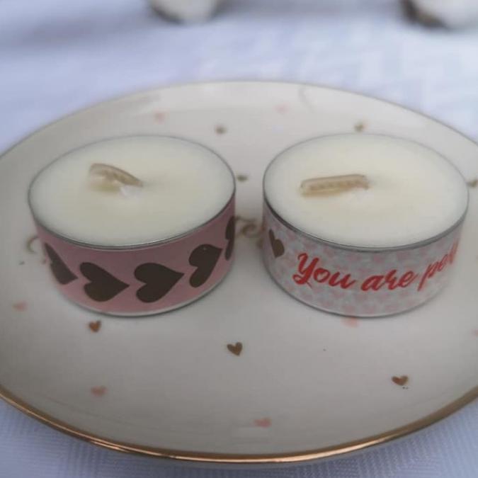 Mes bougies craquantes - Bougie chauffe plat décorée à l'unité - Bougie - sans parfum