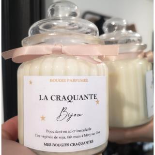 Mes bougies craquantes - La Craquante Bijou 250g - Bougie - parfum de grasse