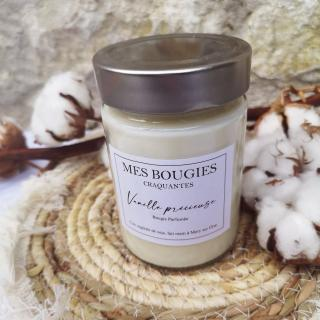 """Mes bougies craquantes - La grande Craquante de 300g """"Vanille précieuse"""" - Bougie - Vanille ,  parfum de grasse"""