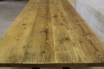 Métal et Bois - Tables industrielles en bois massif et en métal
